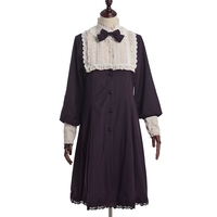 Royal Princess Lolita Dress Girls Preppy British Style Long Sleeve Bow Elegant Classic Noble Dresses