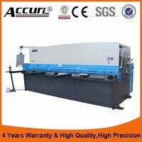 Accurl Hydraulic Swing Beam Shearing Machine 6m Width Iron Plate Cutting