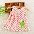 100% Cotton Baby Girl Dress Newborn Infant Girl Dresses Baby Dress Summer Princess Cute Cartoon Baby Girl Dress Sleeveless
