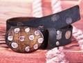 Placa redonda Hebilla de Cinturón Nuevo Diseño Retro Hebilla De Madera 100% Correa de piel de Vaca de Alta Calidad de La Pretina