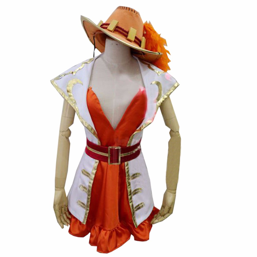 2018 One Piece 15th Anniversary Nami Cosplay Costume Full Set Custom Made Any Size