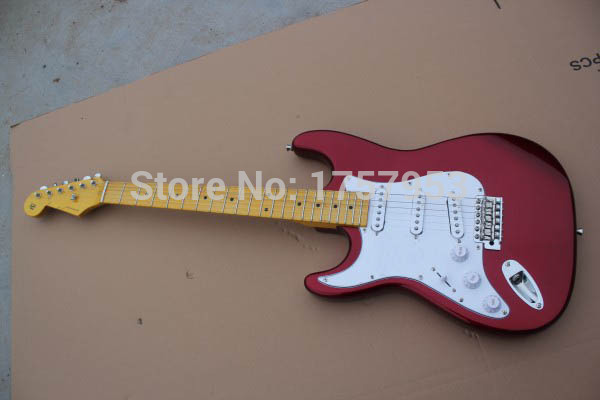 Factory custom shop 2017 Newest Custom left hand Candy Apple Red ST electric guitar Free ...