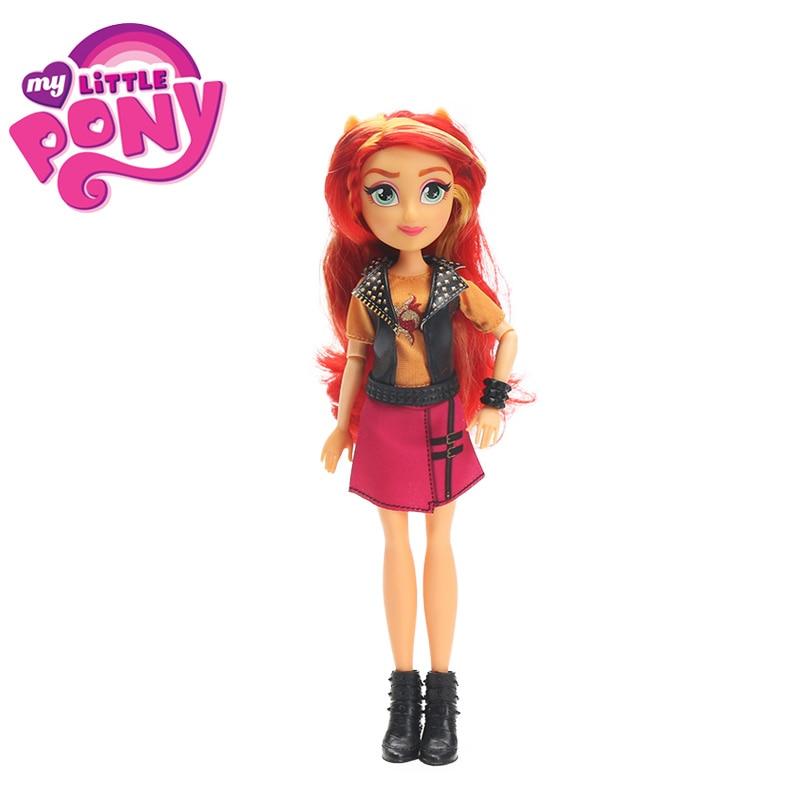 2018 My Little Pony Toys Equestria Girls Sunset Shimmer Apple Jack Rarity PVC Action Figures Pony Classic Style Collection Dolls my little pony equestria girls кукла легенда вечнозеленого леса эпл джек
