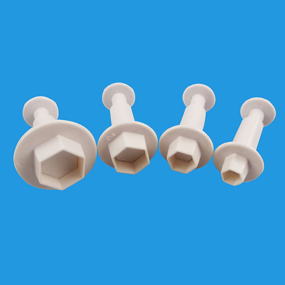 Set of 4 Oval Shape Cookie Cutter Biscuit Pastry Fondant  Icing Cutter Plunger