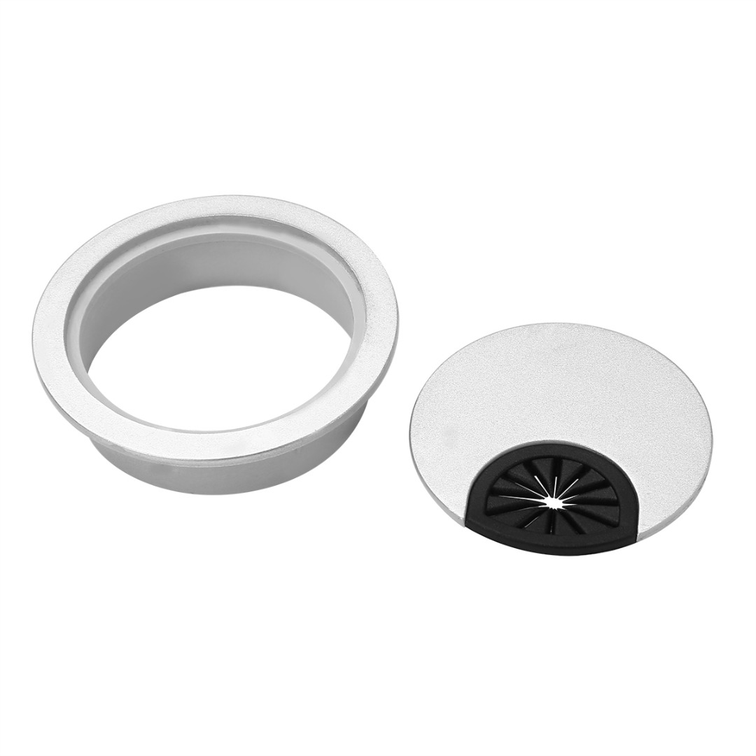 US $1.25 27% OFF|1pc Silver 60mm Table Cable Wire Outlet Port Round on transmission cover, glass cover, fan cover, power cover, terminal block cover, clutch cover, steering cover, battery cover, ventilation cover, socket cover, trim cover, motor cover, transformers cover, arduino cover, ignition cover, floor pipe cover, fuse cover, exhaust cover, removing cover,