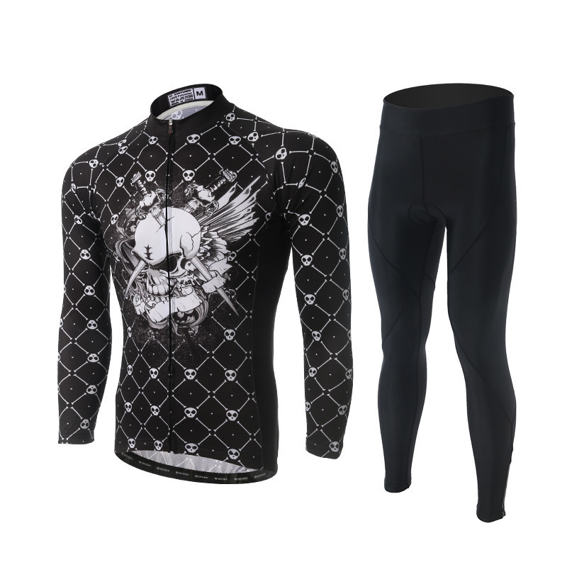 цены на XINTOWN Pro Long Sleeve Cycling Jersey Sets Men Sportswear Ropa Ciclismo Mtb Bike Bicycle 3D Gel Padded Cycling Clothing Sets в интернет-магазинах