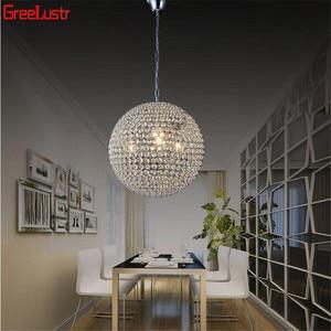 Image 1 - LED Ball Pendant Lights Crystal Pendant Lamp Lustres Hanglamp Fixtures Lamparas Colgantes Abajur Luminaires for Dining Room E27