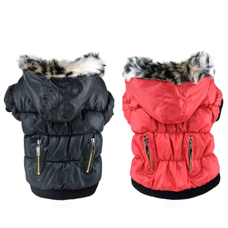 Pets Doggy Puppy Warm Winter Coat Zipper Fold Hoodies Jackets Dog Costume Pet Cat Apparel
