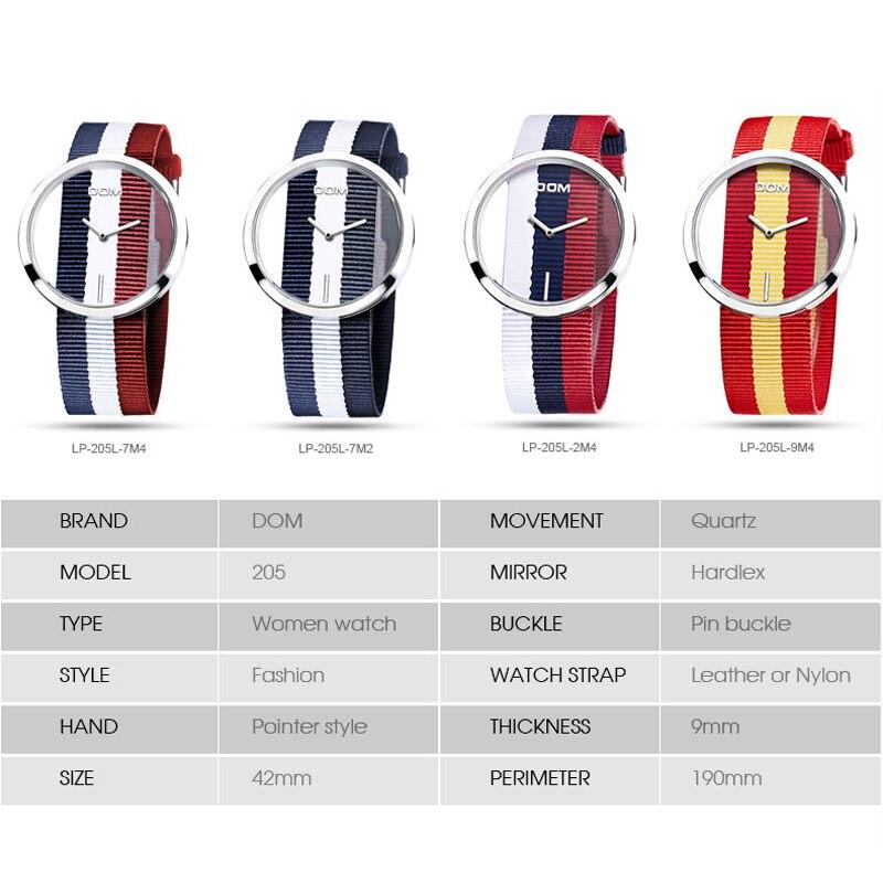 Kobiety zegarek DOM Luksusowa Marka Moda Proste Casual Zegarki - Zegarki damskie - Zdjęcie 5