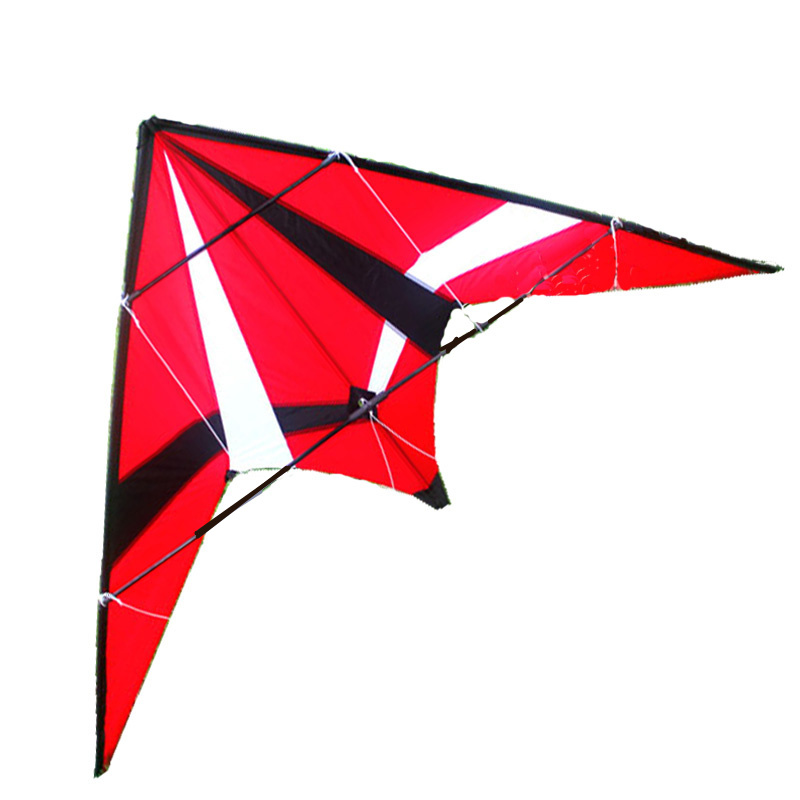 Outdoor Fun Sports 1.8m Red Professional Dual Line Stunt Kite With Flying Tools Free Shipping 16 colors x vented outdoor playing quad line stunt kite 4 lines beach flying sport kite with 25m line 2pcs handles