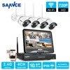 SANNCE 4 Channel Wifi 720P Ip Camera NVR CCTV Wireless Camera System 4CH Wifi NVR Kits