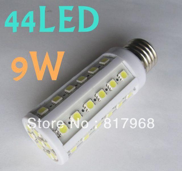 9W  E27 E14 B22  44PCS SMD 5050 LED Warm White Cool White Lamp Light Energy Saving Bulb 110V or 220V AC