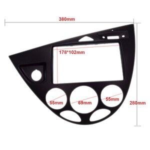 Image 2 - 2 Din カーラジオ筋膜フィットフォーカス/フィエスタ 2006 (ヨーロッパ、 LHD) 車の再装着 DVD フレーム dvd 支払者パネルトリムインストールキットキット