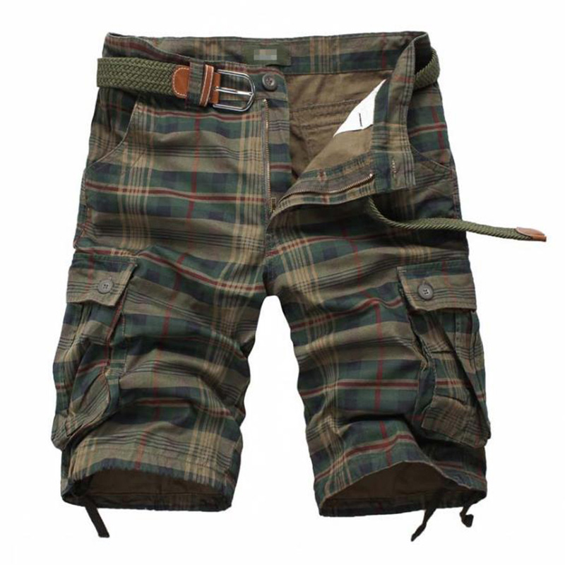 New 2018 Men Cargo Shorts Casual Loose Short Pants Camouflage Military Summer Style Knee Length Plus Size 100% Cotton Shorts Men