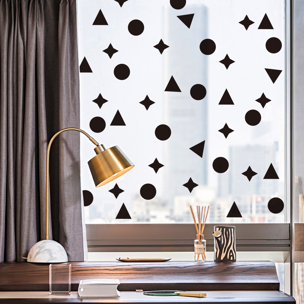 25Pcs Multi Geometric Patterns Size Polka Dots Circles Stars Triangles Vinyl Decals Wall Stickers For Home Decor Party Kids Room in Wall Stickers from Home Garden