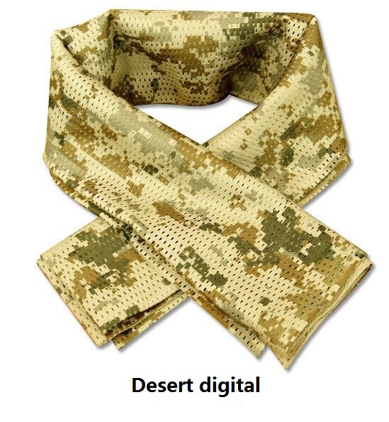 Military Style Camo Mesh Neck Scarf Scrim Net Sniper Face Veil Mask Army Airsoft