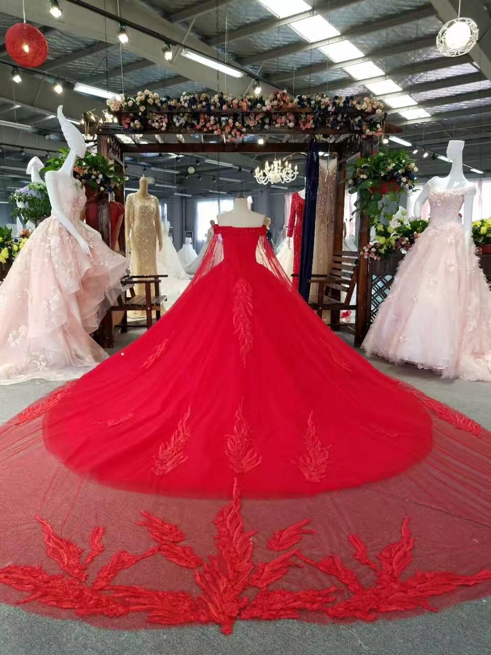 Ny Arrival Elegant A-Line Spets Sequins Bröllopsklänning 2017 - Bröllopsklänningar - Foto 5