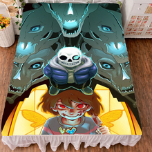Japanese Anime Undertale My Skeleton Flat Soft Bed Sheet Cover dropshipping