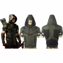 Green Arrow Season 4 Oliver Queen Men Hoodie Jacket Halloween Comic con Cosplay Costume