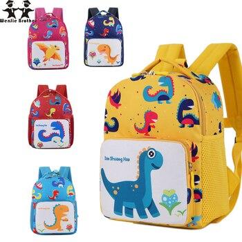 8b83683589681 Wenjie kardeş Dinozor Erkek Çocuk sırt çantaları çocuklar anaokulu Küçük  SchoolBag Kızlar Için Sırt Çantası Hayvan Okul Çantaları Sırt Çantası