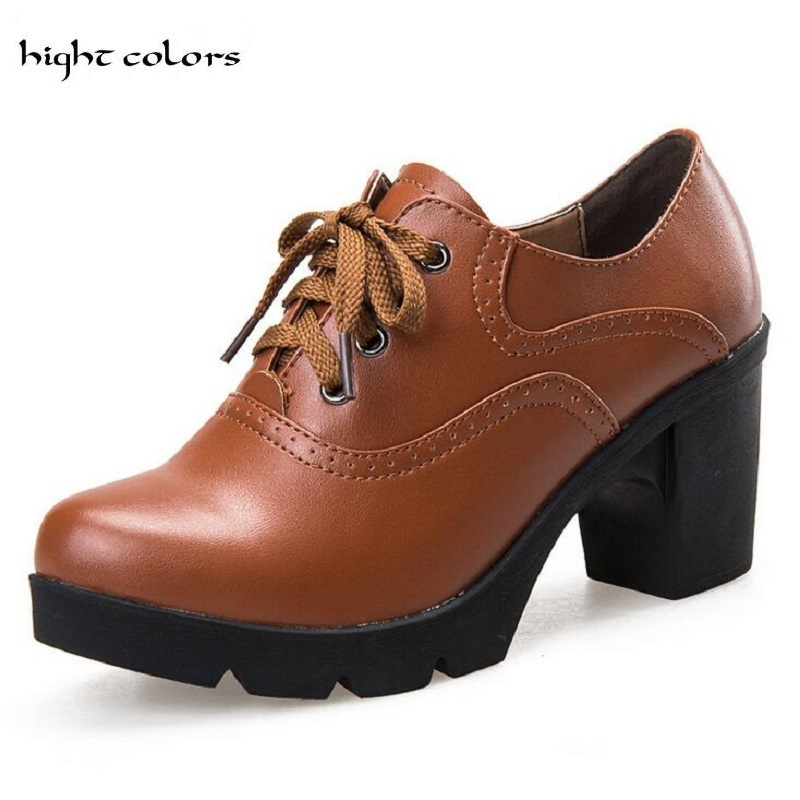 4f8c6dbe6 حار بيع خمر الدانتيل يصل حذاء أكسفورد للنساء الأزياء النمط البريطاني جولة  تو المرأة أكسفورد أحذية السيدات حذاء المدرسة CLB88