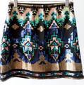 Retro mini saia de lantejoulas mulheres cor feitiço saia curta