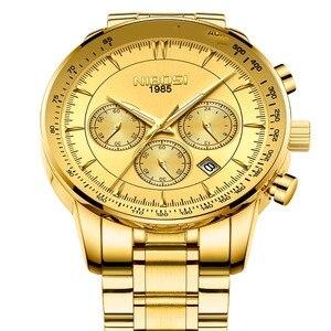 Image 3 - NIBOSI hommes montre 2019 militaire étanche Date hommes montres haut marque de luxe chronographe créatif montre hommes Relogio Masculino