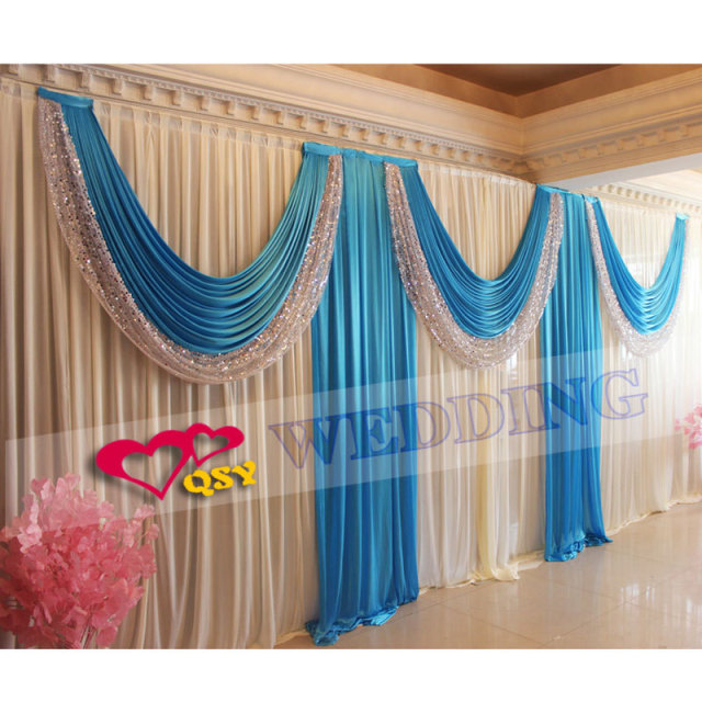 Buy 2016 wedding backdrops for wedding for Background curtain decoration