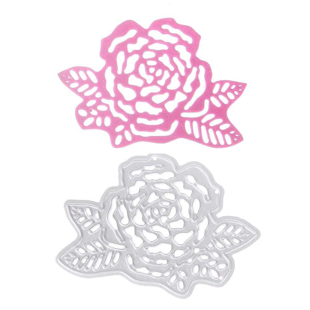 Diy Flower Peony Metal Embossing Cutting Dies Stencil Craft Cards