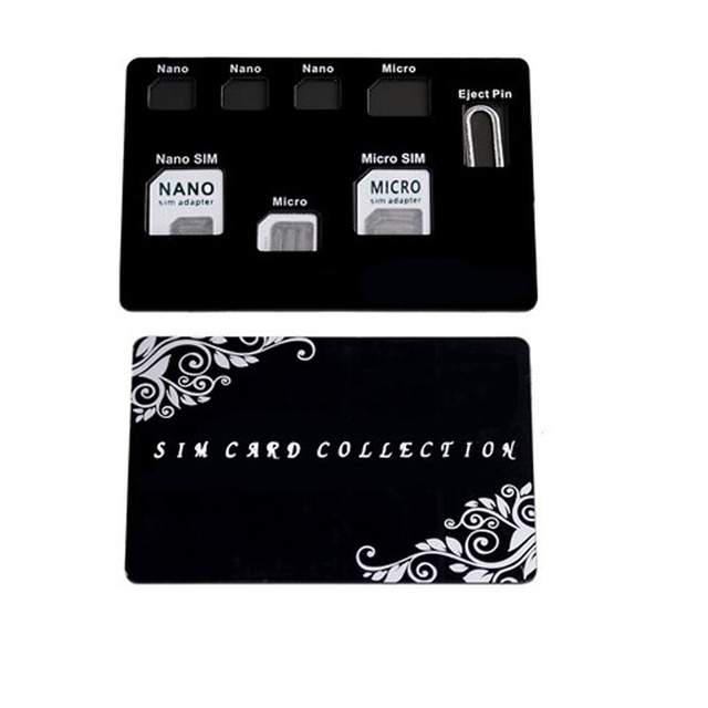 Slim ה-SIM כרטיס מחזיק & MicroSD כרטיס מקרה אחסון lphone פין כלול