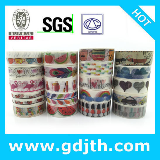 2290 china wholesale jiataihe washi tape removable romania DIY scrapbook solid color adhesive triangle rose DIY