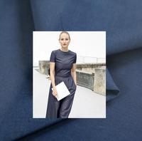 Ultra rare natural cotton denim, blue silk cotton fabric, hand woven fabric