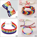 "Gay Pride Charming Bracelet ""PRIDE"" Bracelet Rainbow Gay Jewelry For Lover High Quality Braccialetto Tessuto pulseira masculina"