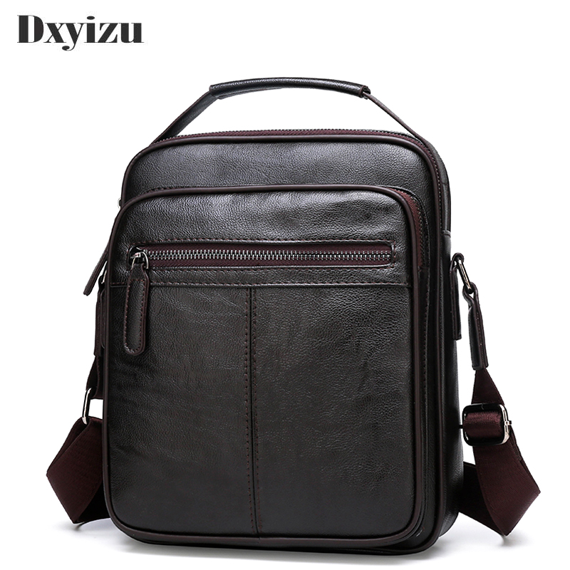 Dxyizu 2019 Genuine Leather Casual Men Small Shoulder Bag