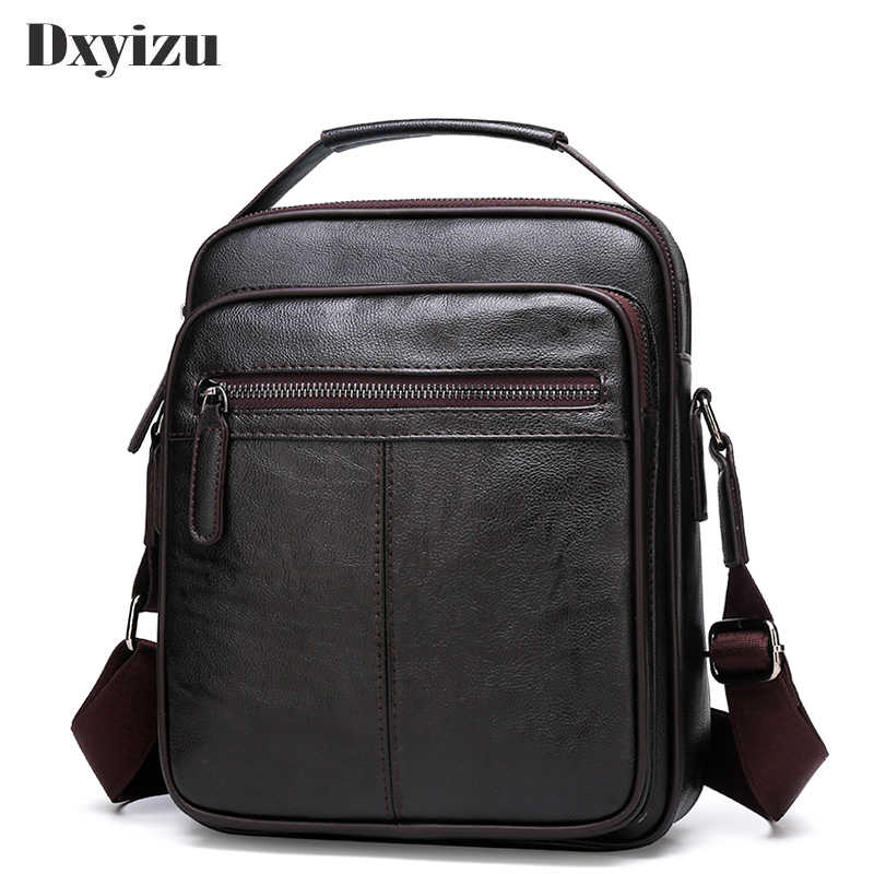 2019 Genuine Leather Casual Men Handbags Small Shoulder Bag Crossbody Retro Hot Sale Messenger Bags For Male Business Handbag