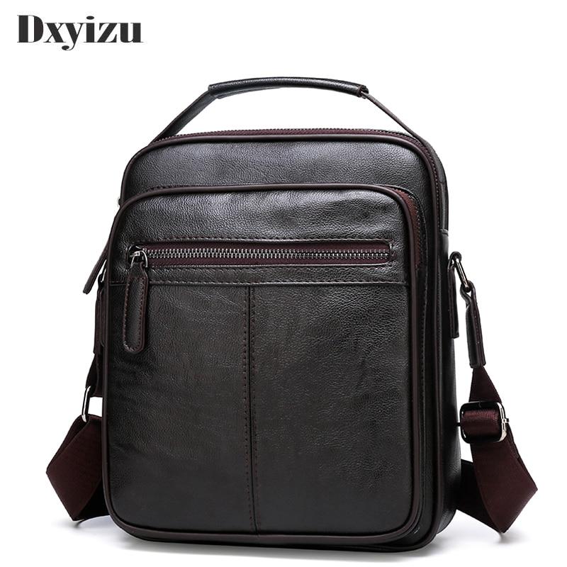 2019 Casual Men Soft Leather Handbag Small Single Shoulder Bag Crossbody Retro Hot Sale Messenger Bags For Male Business Handbag