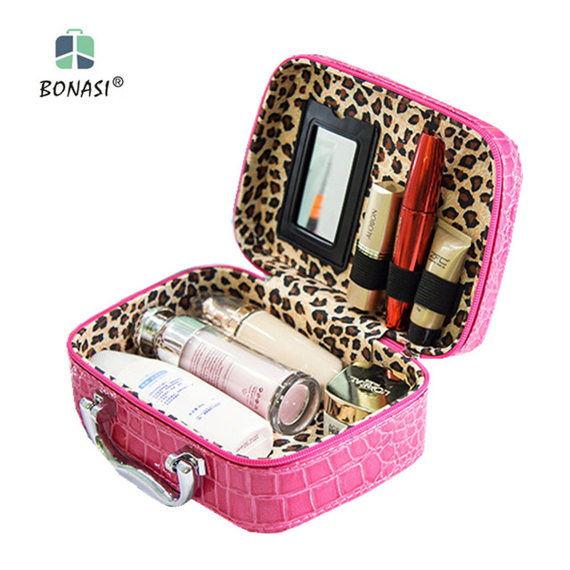 2017 Hot Sale! Cosmetic Bag Big Capacity Portable Cosmetics Waterproof Make-up Box Ms Toiletry Organizer Bags Free Shipping