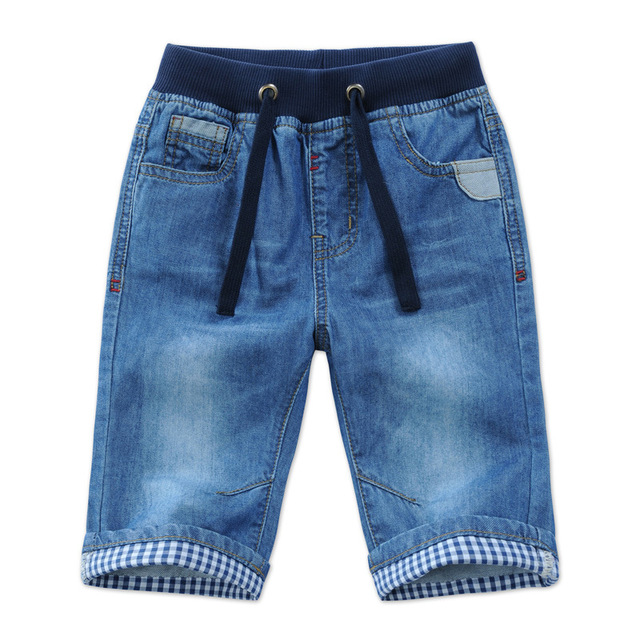 e4a359f8cf74 2018 New Kids Boys Denim Shorts Summer Toddler Clothing Boys Casual Solid  Soft Cotton Jeans Shorts For Baby Boys 2-13Y DQ301