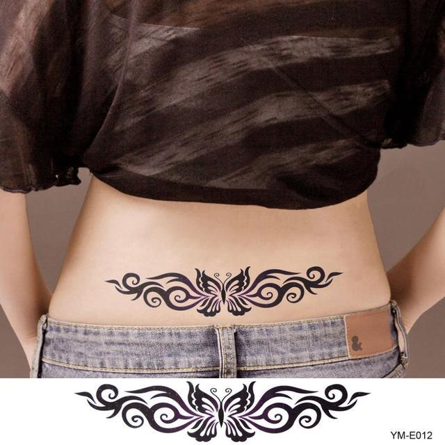 Falso A Prueba De Agua Pegatinas Tatuaje Sexy Mariposas Body Art