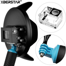 6 inch Underwater Diving Camera Fisheye Wide Angle Lens Dome Port Handgrip Waterproof Case for GoPro Hero 4 3+ Action Camera