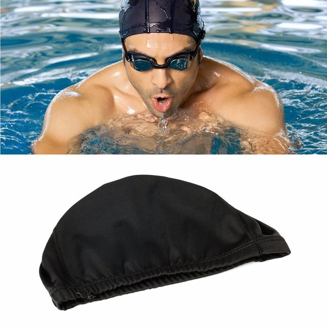 5e4951e1acb8 Men Women Durable Flexible Sporty Polyester Swimming Swim Cap Bathing Hat  Unisex