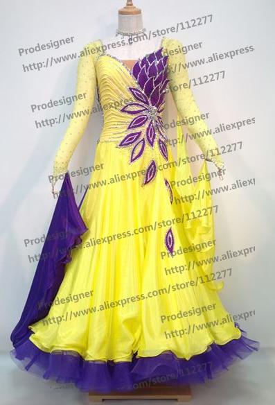 New Style ballroom Standard Dance font b Dress b font Waltz Competition font b Dress b