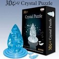 Candice guo! New arrival hot sale 3D crystal puzzle water drop model DIY funny game creative gift 1pc