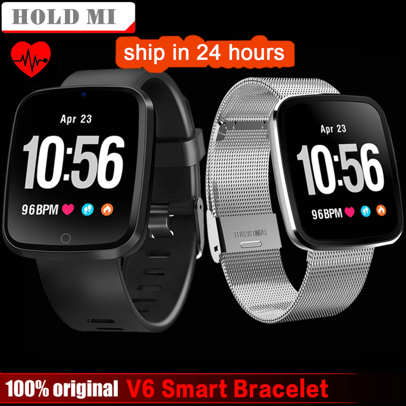 V6 Smart watch men Heart Rate monitor Fitness tracker Blood Pressure Monitor sport smartwatch for IOS