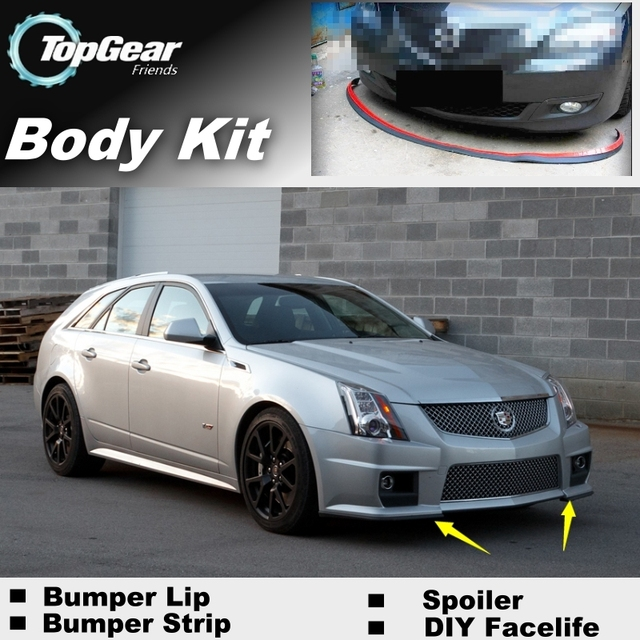 Cadillac Ats 2012: Bumper Lip Deflector Lips For Cadillac ATS 2012~2015 Front Spoiler Skirt For TopGear Friends To