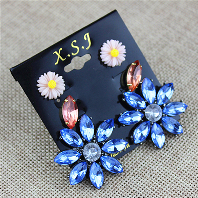New fashion gorgeous women jewelry Girl Birthday Party flower type earnail 3 pairs of /s ...