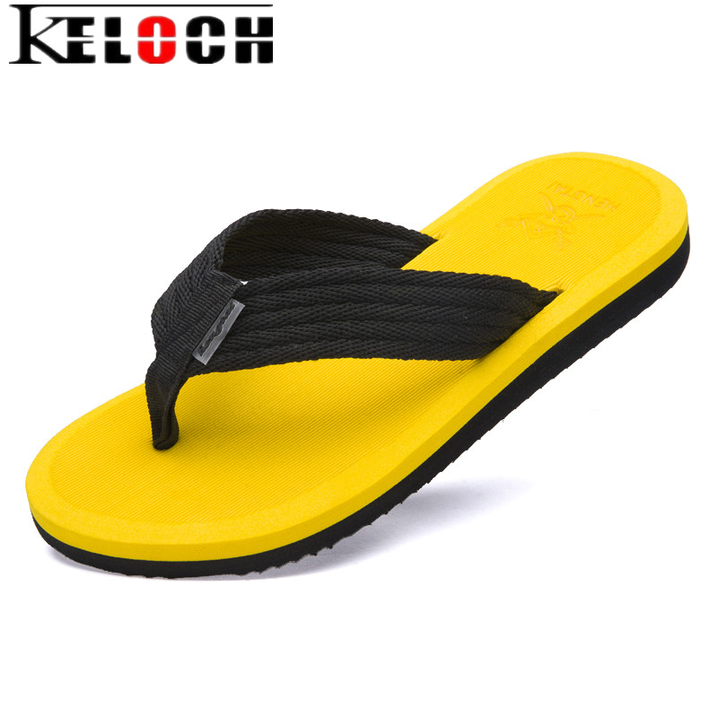 Keloch New 2017 Summer Men's Flip Flops High-quality Soft Massage Beach Slippers Fashion Pantufa Men Sandals Casual Sandalias  high quality man flip flops slippers beach sandals summer indoor