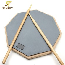 Senrhy New 12 Rubber Practice Drum Pad Silence Drum For Beginner Drumming Quiet Training Musical Instruments For Music Lover