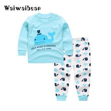 цена на Infant Clothing Spring Autumn Baby Girls And Boys Clothes T-shirt+Pants 2pcs Outfit Suit Baby Girls Clothing Set Newborn Clothes