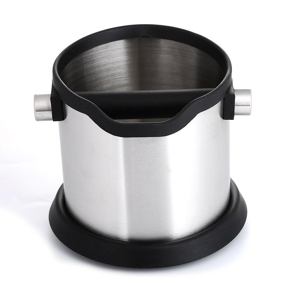 Realand 1800ml Stainless Steel Espresso Knock Box Anti Slip Coffee Grind Dump Bin Waste Bin With Detachable Knock Bar Barista